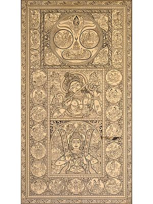Vaishnava Universe With Rama-Krishna-Jagannath Panels