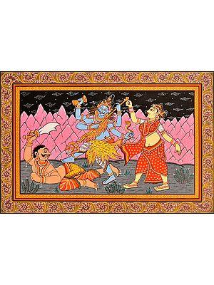 Lord Shiva Killing Andhakasura