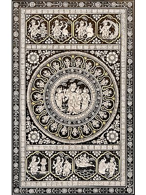 Shri Krishna Lila with Mandala
