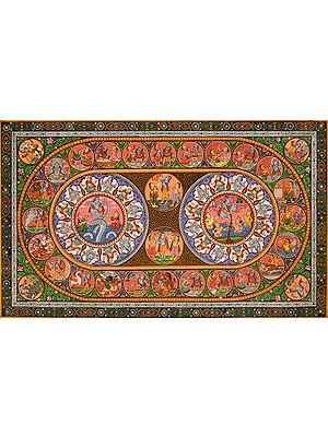 Rasa Mandala with Shri Krishna Lila