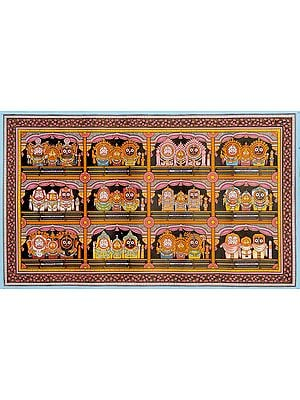 Twelve Patterns of Shringara – Adornment of Shri Jagannatha Ji
