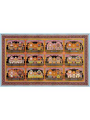 Twelve Patterns of Shringara – Adornment of Shri Jagannatha Ji