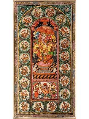 Panchamukha Dancing Ganesha
