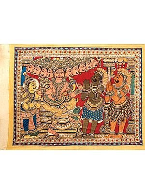Ravana in His Court, Illustration From Ramayana