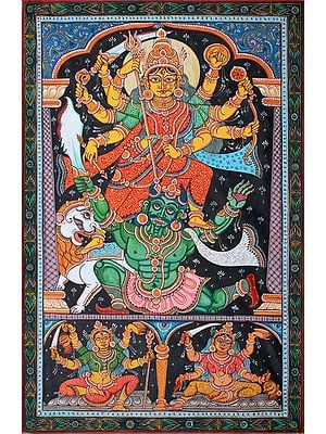 Mahishasura Meets His End At The Feet Of Devi Durga