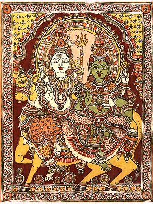 Blessing Shiva Parvati Seated on Nandi