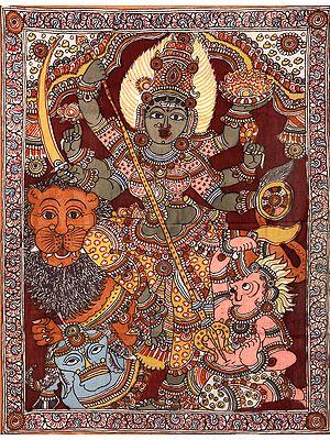 Six-armed Mahishasuramardini Goddess Durga