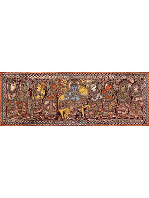 Krishna Enchants Gopikas With His Flute