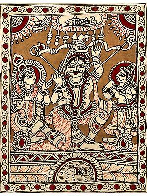 Arjuna at Draupadi's Swayamvar