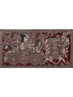 Lord Shiva On Multi Nandi Chariot