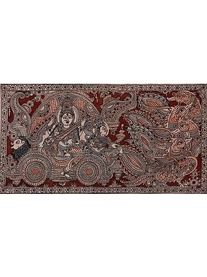 Devi Sarasvati In A Swan-Drawn Chariot