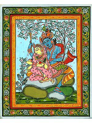 Colorful Close-Knit Bond of Radha and Krishna