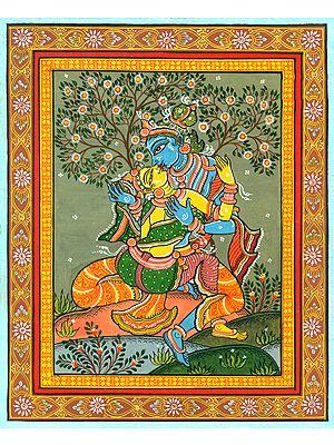 Radha-Krishna Expressing their Love