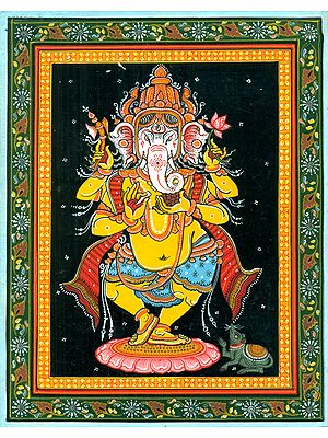 Gloriously Crowned Dancing Ganesha