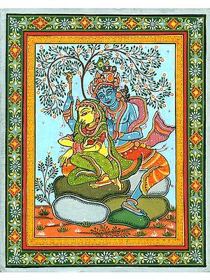 Radha Krishna Under the Fruitful Tree