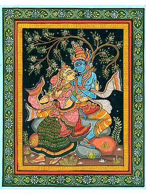Radha Krishna Fluting in Nidhivan