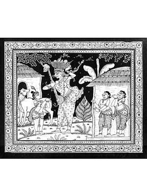 Putana as a Toy Seller with Krishna
