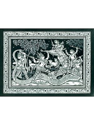 Krishna Killing the Demon Aghasura