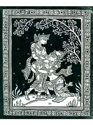 Amorous Radha Krishna