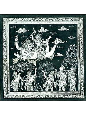 Haladhar Balarama Killing the Demon Dhenukasura