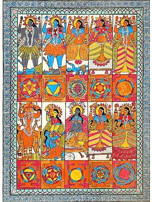 Ten Mahavidya with Ten Yantras