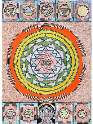 Yantra of Shodashi with Nine Mahavidya Yantras
