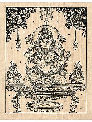 The Gracious Chaturbhujadharini Devi Lakshmi