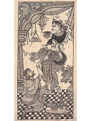 Lord Kamadeva with Goddess Rati