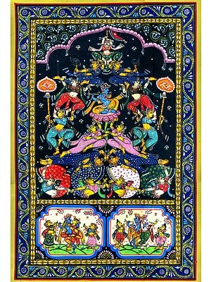 Lord Krishna Surrounded by Gopis