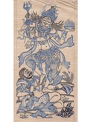 The Dancing Lord Shiva on Demon of Ignorance