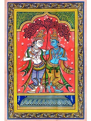 Krishna and Balarama in Harmony Under The Large Bilva Tree