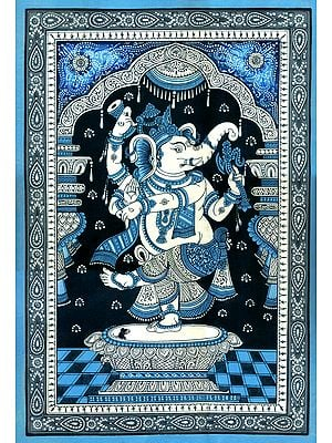 Divine Ganesha in His Cosmic Dancing Mudra