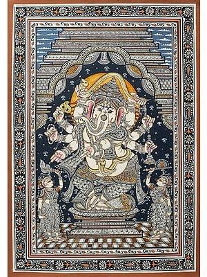 Ashtaganesha with Ridhi and Siddhi