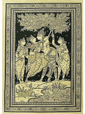 Dancing Radha Krishna Under The Magnificent Tree