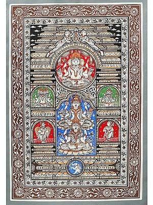 Divine Temple of Ganesha, Lakshmi, Saraswati Along With Trideva