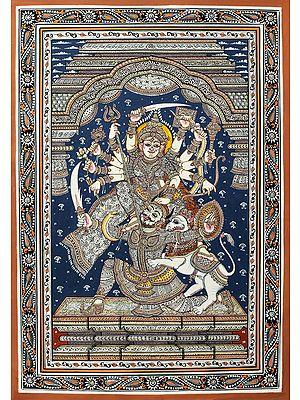 The Fair Mahishasuramardini Housed In A Cut-Glass Temple