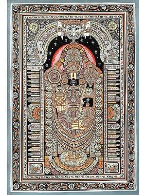 The Divine Lord Venkateshwara Along With Kirtimukha