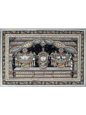 The Holy Trinity of Jagannath (Krishna Subhadra and Balarama)