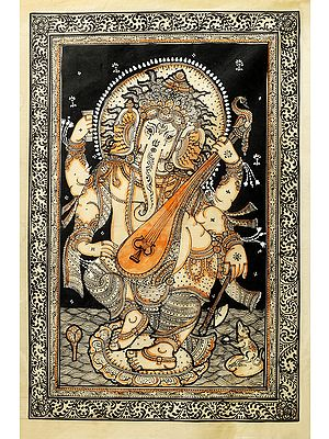 Musical Lord Ganesha Playing Veena