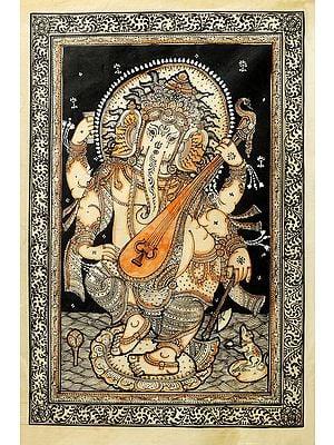 Veenadhari Dancing Ganesha