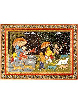 Raining in Vrindavana