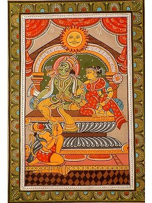 Rama of the Sun Clan (Surya-vanshi) with Sita and Hanuman