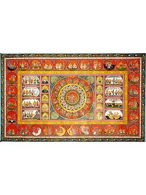 Rasamandala with Life of Krishna