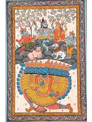 Ravana Disturbs Kailasha