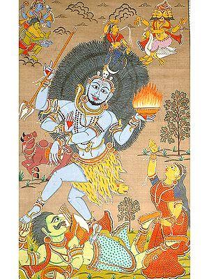 Rudra Tandava Venerated by Brahma and Vishnu