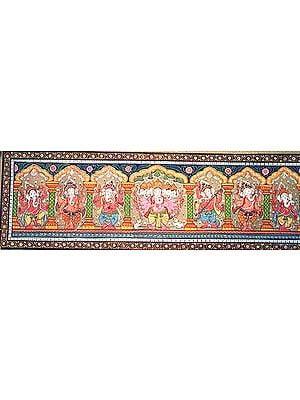 Seven Ganeshas