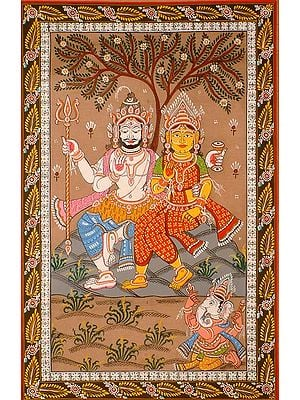 Shiva and Parvati Venerated by Ganesha