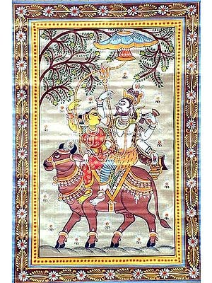 Shiva Parvati on Nandi
