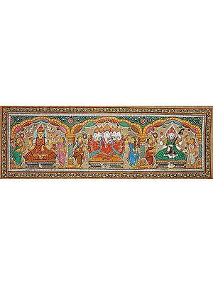 The Great Triad of Gaja Lakshmi, Ganesha and Saraswati