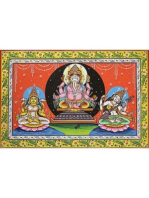 The Great Triad of Ganesha Lakshmi and Saraswati